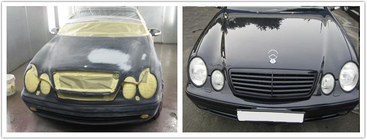 покраска автомобиля мерседес